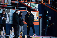 17th April 2021; Kenilworth Road, Luton, Bedfordshire, England; English Football League Championship Football, Luton Town versus Watford; Injured Watford striker Troy Deeney supports from the sidelines
