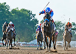 July 27, 2014: Bayern, ridden by Martin Garcia, wins the William Hill Haskell Invitational on Haskell Invitational Day at Monmouth Park in Oceanport, New Jersey Scott Serio/ESW/CSM