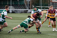 Llewelyn Jones of Ampthill RUFC during the Greene King IPA Championship match between Ealing Trailfinders and Ampthill RUFC being played behind closed doors due to the COVID-19 pandemic restrictions at Castle Bar , West Ealing , England  on 13 March 2021. Photo by Alan Stanford / PRiME Media Images
