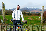 Dingle resident, Vincent Manning. pictured, plans to buy a defibrillator for the Pier in Dingle, and to raise the money he is going to cycle Slea Head and then climb Mount Brandon on March 28th next, in memory of his loving mom Máire who died from a heart attack 5years ago on that date.