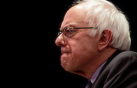 New York, Jan 05, 2016. Democratic Presidential hopeful Senator Bernie Sanders of Vermont speaks during a campaign stop at the Town Hall Theater in New York City.  photo by Trevor Collens/Alamy Live News