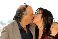 "CLAUDIO FRAGASSO & ROSSELLA DRUDI.Photocall for ""Milano-Palermo: il ritorno"", Rome, Italy..November 15th, 2007.headshot portrait kiss kissing glasses.CAP/CAV.©Luca Cavallari/Capital Pictures."