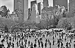 """During  """"The Gates """" exihibition. in Central Park."""