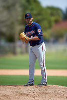 Minnesota Twins Omar Bencomo (64) during a minor league Spring Training game against the Baltimore Orioles on March 16, 2016 at CenturyLink Sports Complex in Fort Myers, Florida.  (Mike Janes/Four Seam Images)