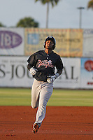 Tampa Yankees infielder Miguel Andujar (46) running the bases during a game against the Daytona Tortugas at Radiology Associates Field at Jackie Robinson Ballpark on June 13, 2015 in Daytona, Florida. Tampa defeated Daytona 8-6. (Robert Gurganus/Four Seam Images)