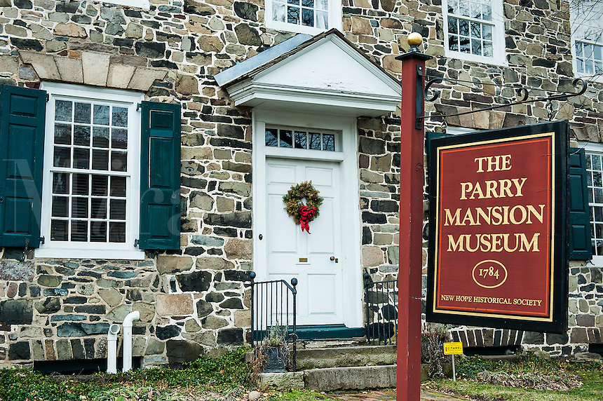 Parry Mansion Museum, New Hope, Pennsylvania, USA