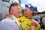Julian Alaphilippe (FRA) Deceuninck-Quick Step wins Stage 3 atop Cote de Mutigny and takes the Yellow Jersey of the 2019 Tour de France running 215km from Binche, Belgium to Epernay, France. 8th July 2019.<br /> Picture: ASO/Olivier Chabe | Cyclefile<br /> All photos usage must carry mandatory copyright credit (© Cyclefile | ASO/Olivier Chabe)