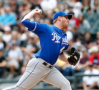 Kansas City Royals pitcher Nate Adcock #47 during a game against the Chicago White Sox at U.S. Cellular Field on August 14, 2011 in Chicago, Illinois.  Chicago defeated Kansas City 6-2.  (Mike Janes/Four Seam Images)