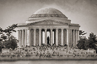 Jefferson Memorial Washington DC Architecture Black and White Photography Washington DC Art - - Framed Prints - Wall Murals - Metal Prints - Aluminum Prints - Canvas Prints - Fine Art Prints Washington DC Landmarks Monuments Architecture