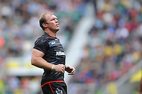 Springbok Schalk Burger of Saracens looks on during the Aviva Premiership Rugby match between Saracens and Worcester Warriors at Twickenham Stadium on Saturday 03 September 2016 (Photo by Rob Munro/Stewart Communications)