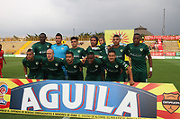 BOGOTA -COLOMBIA, 20-03-2017. Team of La Equidad . Action game between  La Equidad and Patriotas FC during match for the date 10 of the Aguila League I 2017 played at Techo  stadium . Photo:VizzorImage / Felipe Caicedo  / Staff