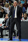 Real Madrid´s coach Pablo Laso during 2014-15 Euroleague Basketball Playoffs match between Real Madrid and Anadolu Efes at Palacio de los Deportes stadium in Madrid, Spain. April 15, 2015. (ALTERPHOTOS/Luis Fernandez)