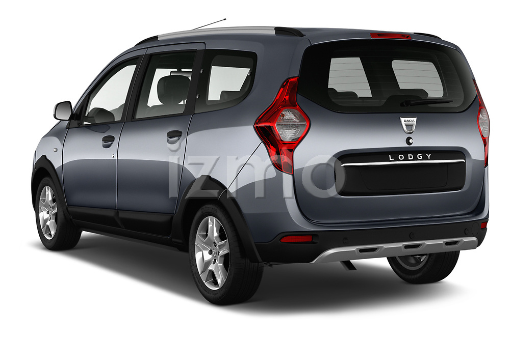 Car pictures of rear three quarter view of a 2017 Dacia Lodgy Stepway 5 Door Mini Van angular rear