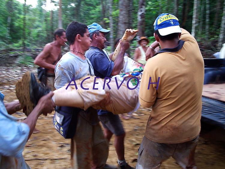 Dorothy Stang morta no PDS Esperança por pistoleiros.<br /> Anapu, Pará, Brasil.<br /> 12/02/2005