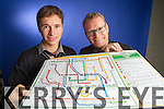Sean O'Hara and John Loughry who produced the Kerry GAA Tube map.