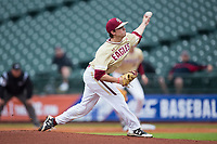 Boston College Eagles starting pitcher Dan Metzdorf (36) delivers a pitch to the plate against the North Carolina Tar Heels in Game Five of the 2017 ACC Baseball Championship at Louisville Slugger Field on May 25, 2017 in Louisville, Kentucky.  The Tar Heels defeated the Eagles 10-0 in a game called after 7 innings by the Mercy Rule. (Brian Westerholt/Four Seam Images)