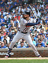Atlanta Braves Ender Inciarte #11 during a game against the Chicago Cubs on May 14, 2018 at Wrigley Field in Chicago, IL. The Braves beat the Cubs 6-5.