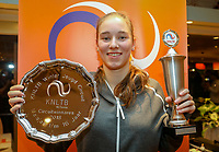Hilversum, Netherlands, December 2, 2018, Winter Youth Circuit Masters, Masters overall winner girls 16 years: Anouk Koevermans (NED)<br /> Photo: Tennisimages/Henk Koster