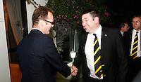 Photo: Richard Lane/Richard Lane Photography. London Wasps in Abu Dhabi for their LV= Cup game against Harlequins on 30st January 2011. 29/01/2011. London Wasps visit the British Embassy in Abu Dhabi as owner, Steve Hayes meets Ambassador, Dominic Jermey.