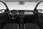 Stock photo of straight dashboard view of 2018 Skoda Fabia Ambition 5 Door Hatchback Dashboard