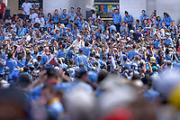 Pope Francis during an audience to the Italian Catholics Scouts (Agesci) at St Peter's square at the Vatican. June 13, 2015