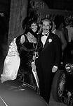 CLAUDIA CARDINALE CON FRANCO CRISTALDI<br /> FESTA A TEMA ANNI 20- JACKIE O' ROMA 1974
