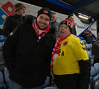 Fleetwood Town fans<br /> <br /> Photographer David Horton/CameraSport<br /> <br /> The EFL Sky Bet League One - Portsmouth v Fleetwood Town - Tuesday 10th March 2020 - Fratton Park - Portsmouth<br /> <br /> World Copyright © 2020 CameraSport. All rights reserved. 43 Linden Ave. Countesthorpe. Leicester. England. LE8 5PG - Tel: +44 (0) 116 277 4147 - admin@camerasport.com - www.camerasport.com