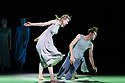 """London, UK. 17.07.2019. Sadler's Wells' Young Associates present a mixed bill, """"Together, not the same"""", at Sadler's Wells Theatre. This piece is """"To The Ocean Floor"""", choreographed by Christopher Thomas. The dancers are Ashley Morgan Davies, Elin Anderson, Hannah McGlashon, Jackson Fisch, Josh White, Lara Fournier, Monique Jonas, Noemie Larcheveque, Oscar Li, Rosie Reith. Photograph © Jane Hobson."""