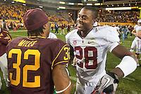 TEMPE, AZ - November 13, 2010: Harold Bernard during a football game at Arizona State University in Tempe, Arizona. Stanford won 17-13.