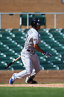 Glendale Desert Dogs designated hitter Jacob Scavuzzo (21) at bat during an Arizona Fall League game against the Surprise Saguaros on October 23, 2015 at Salt River Fields at Talking Stick in Scottsdale, Arizona.  Glendale defeated Surprise 9-6.  (Mike Janes/Four Seam Images)