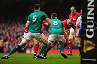 Pictured: Ken Owens of Wales in action during the Guinness six nations match between Wales and Ireland at the Principality Stadium, Cardiff, Wales, UK.<br /> Saturday 16 March 2019