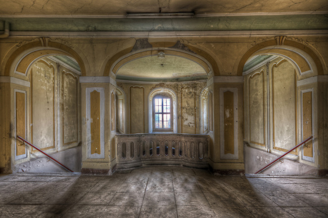 An abandoned palace in East Germany.