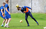 St Johnstone Training....   Murray Davidson pictured during training at McDiarmid Park ahead of Saturday's game against Rangers.<br />Picture by Graeme Hart.<br />Copyright Perthshire Picture Agency<br />Tel: 01738 623350  Mobile: 07990 594431