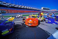 The #03 Marcos Mantis is prepared for practice...2002 Rolex 24 at Daytona, Daytona International Speedway, Daytona Beach, Florida USA Feb. 2002.(Sports Car Racing)