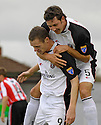 21/10/2006       Copyright Pic: James Stewart.File Name :sct_jspa03_gretna_v_clyde.KENY DEUCHAR CELEBRATES SCORING GRTENA'S FIRST.Payments to :.James Stewart Photo Agency 19 Carronlea Drive, Falkirk. FK2 8DN      Vat Reg No. 607 6932 25.Office     : +44 (0)1324 570906     .Mobile   : +44 (0)7721 416997.Fax         : +44 (0)1324 570906.E-mail  :  jim@jspa.co.uk.If you require further information then contact Jim Stewart on any of the numbers above.........