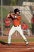 AZL Giants Orange Heath Quinn (7) at bat during a game against the AZL Angels at Giants Baseball Complex on June 17, 2019 in Scottsdale, Arizona. AZL Giants Orange defeated AZL Angels 8-4. (Zachary Lucy/Four Seam Images)