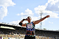 4th July 2021; Stockholm Olympic Stadium, Stockholm, Sweden; Diamond League Grand Prix Athletics, Bauhaus Gala;  Valerie Adams of New Zealand competes during for womens shot put at the Stockholm Diamond League meeting