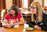 Calgary, AB - June 5 2014 - Wheelchair Curling's Ina Forrest and Canadian Paralympic Committee CEO Karen O'Neill during the Celebration of Excellence Heroes Tour visit to Ronald McDonald House in Calgary. (Photo: Matthew Murnaghan/Canadian Paralympic Committee)