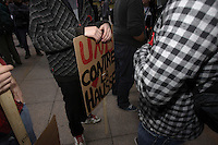 April  24, 2012 File Photo - Montreal, Quebec - CLASSE Student protest in Montreal streets againts the tuition hike imposed by Jean Charest Liberal Government.