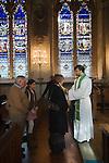 Blessing the Throats ceremony February 3rd Saint St Etheldreda's Catholic church. Ely Place London. Uk 2008
