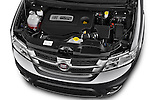 Car Stock 2014 Fiat FREEMONT LOUNGE 5 Door SUV 2WD Engine high angle detail view