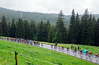 4th July 2021; Tignes, France;  The peloton in environment during stage 9 of the 108th edition of the 2021 Tour de France cycling race, a stage of 144,9 kms between Cluses and Tignes on July 4