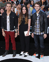 """WESTWOOD, LOS ANGELES, CA, USA - MARCH 18: Matthew Koma, Miriam Bryant, Zedd at the World Premiere Of Summit Entertainment's """"Divergent"""" held at the Regency Bruin Theatre on March 18, 2014 in Westwood, Los Angeles, California, United States. (Photo by Xavier Collin/Celebrity Monitor)"""