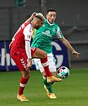 17.10.2020, Schwarzwald Stadion, Freiburg, GER, 1.FBL, SC Freiburg vs SV Werder Bremen<br /> <br /> im Bild / picture shows<br /> Vincenzo Grifo (Freiburg), Kevin Möhwald (Bremen)<br /> <br /> Foto © nordphoto / Bratic<br /> <br /> DFL REGULATIONS PROHIBIT ANY USE OF PHOTOGRAPHS AS IMAGE SEQUENCES AND/OR QUASI-VIDEO.