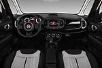 Stock photo of straight dashboard view of 2016 Fiat 500L Trekking 5 Door Mini MPV Dashboard