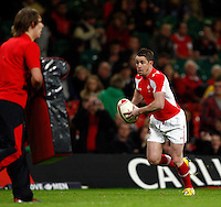 Photo: Richard Lane/Richard Lane Photography. Wales v Australia. Autumn International. 03/12/2011. Wales' Shane Williams warms up for his last game for his country.
