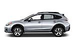 Car Driver side profile view of a 2016 Subaru Crosstrek Hybrid-Touring 5 Door SUV Side View
