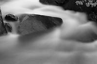 Alberta Falls detail, Rocky Mountain National Park (original in color)
