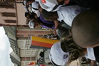 Team der Frankfurt Galaxy auf dem Balkon des Roemer