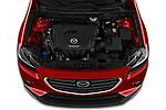 Car Stock 2019 Mazda CX-3 Skycruise 5 Door SUV Engine  high angle detail view